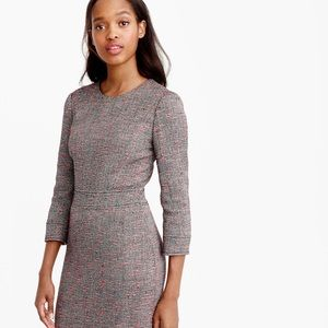 NWOT J.Crew Long Sleeve Neon Tweed Sheath Dress
